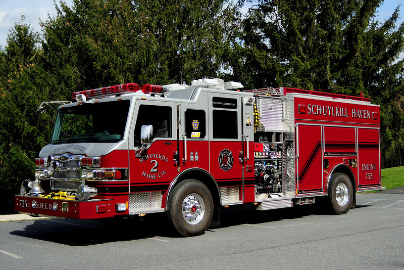 Schuylkill Haven , Pa  Engine  733  Union Street Express 2009 Pierce Velocity  2000/1000/ 30