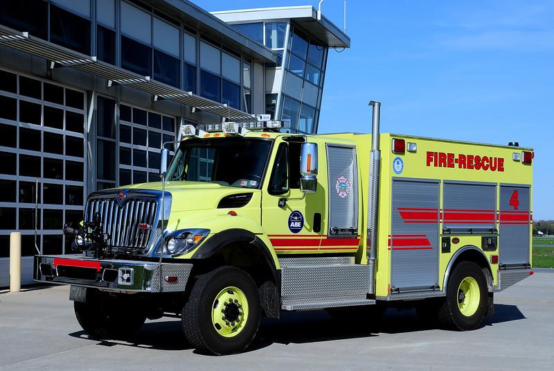 Lehigh Valley  international Airport    Rescue  4  International/ KME  350/ 500 / 60/ 500  Dry  Chem   GSO-7771