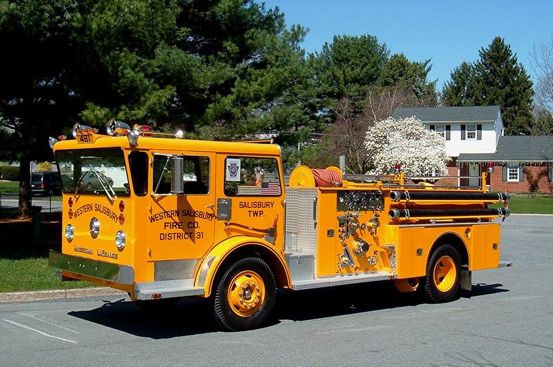 Western Salisbury, PA  Engine 481 1965 American LaFrance Pioneer 750/500