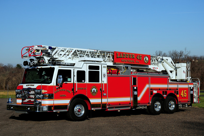 Newtown Fire  Assoc  Ladder  45  2008 Pierce  Velocity  2000/ 300/  105ft