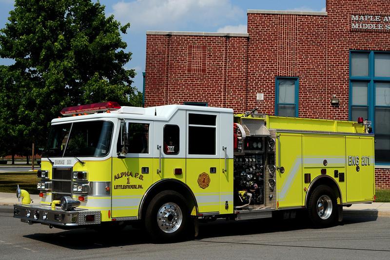 Alpha  Fire  Dept  Littlestown, Pa   Engine  201   1998 Pierce  Dash   2000/ 1000