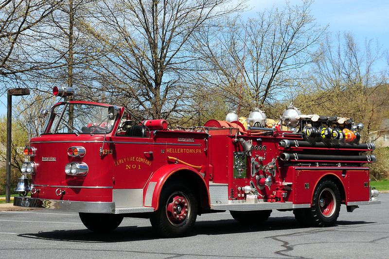 Dewey Fire Co # 1  Hellertown, Pa    Engine  1313  1959  American La France  750/ 300   #N-688 Now  Owned  by  a  Collector