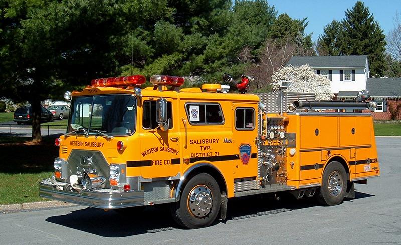 Western Salisbury , PA Engine 3111   1986 Mack CF/Ward 79 1000/500