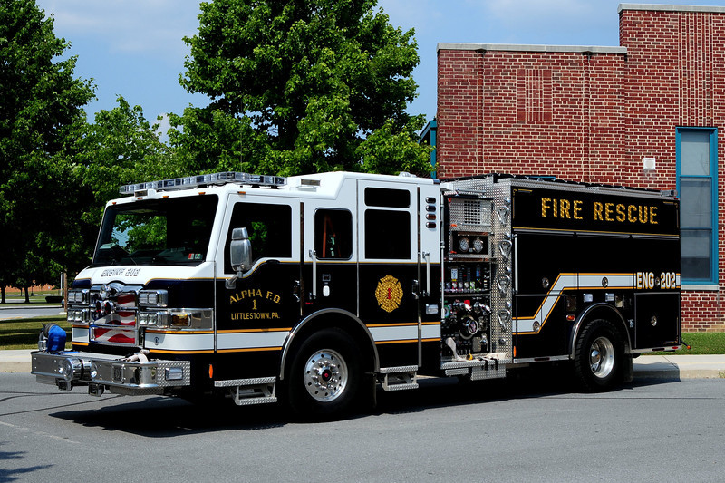Alpha Fire Dept Littlestown, Pa Engine 202  2012  Pierce velocity  1500/ 1250/ 30 foam