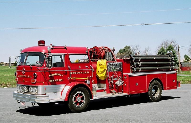 schnecksville, Pa  1965 Mack  C  750/ 500