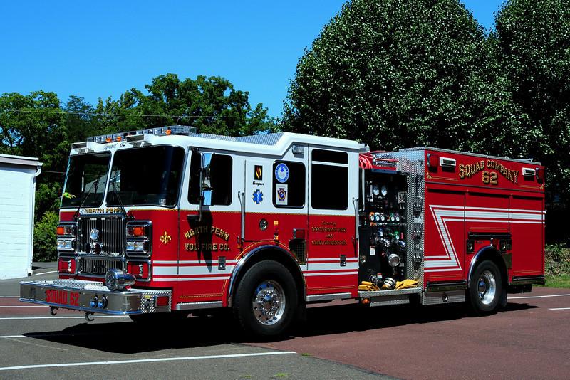 North Penn  Fire  Co  Squad  62    207  Seagrave  Marauder II  1500/ 500