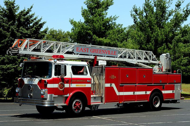 East Greenville Fire Co  Ladder 38 1983 Mack CF/ LTI 106 ft   (bulldog Aerial ) ex-Hatfield Fire Co