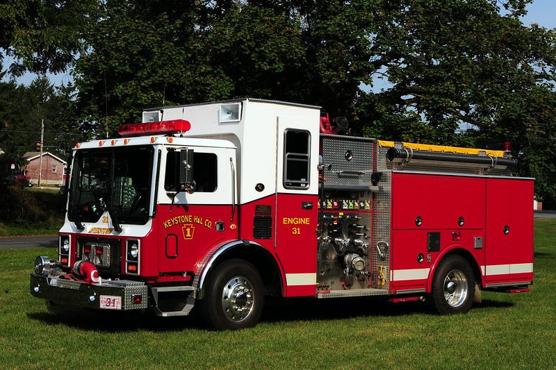 Keystone  Hook & Ladder Co   Engine 31  1992 Mack MR/ LTI 1500/ 1000