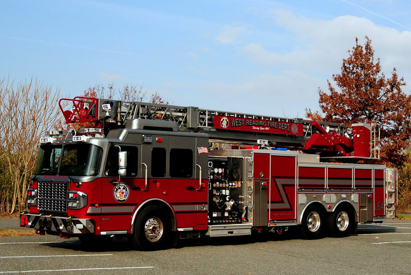 West Reading  Fire  Dept    Ladder 64  2012  Crimson  2000/ 500  103 ft