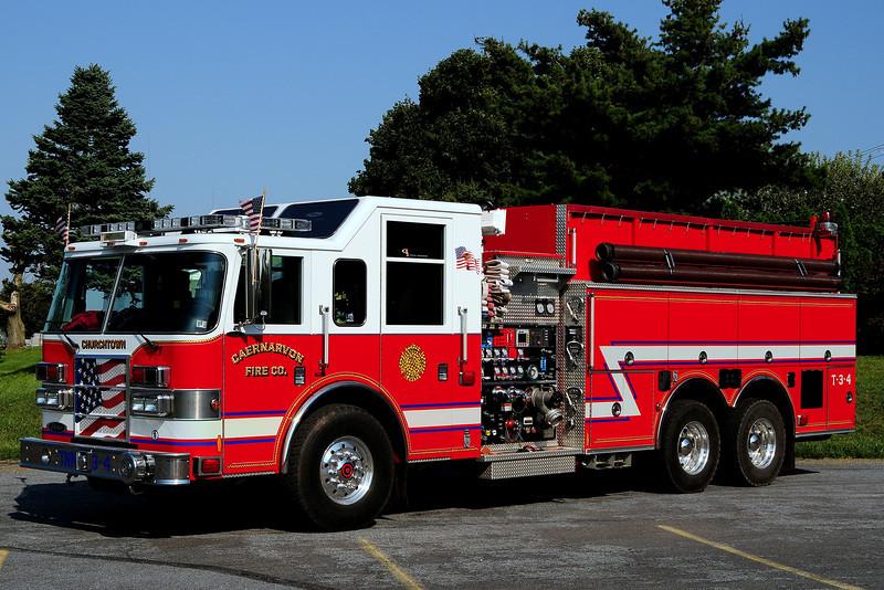 Caernavon Fire Co    Tanker 34  2005  Pierce Dash  1750/ 2500/ 30