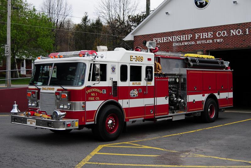 Englewood / Butler Twp, PA Engine 369   1991 Pierce Lance 2000/1000/50