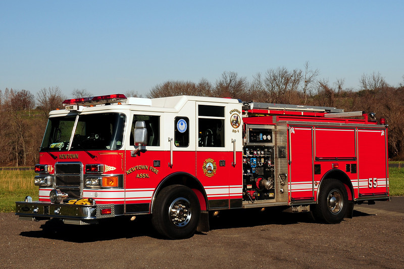 Newtown Fire Assoc   Engine  55-1  2001 Pierce Enforcer  1500/ 750/ 30