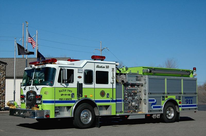 Hazle Twp, Pa  Engine   102  2003   KME 2250/ 750