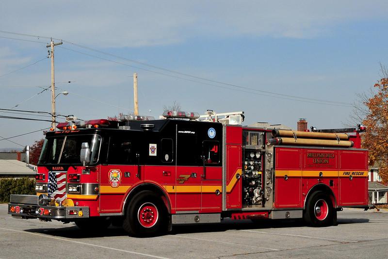 Birdsboro Fire Dept   Rescue  7  1994  Pierce  Lance 1250/ 500/ 20   Ex- pendel, Pa