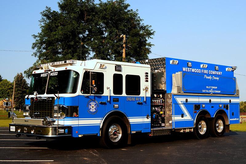 Westwood Fire Co  Engine 44-5  2012 Spartan/ 4 Guys  200/ 300