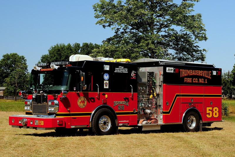 Trumbauersville Fire Co  Engine 58 2007 Spartan / Marion  2000/ 940