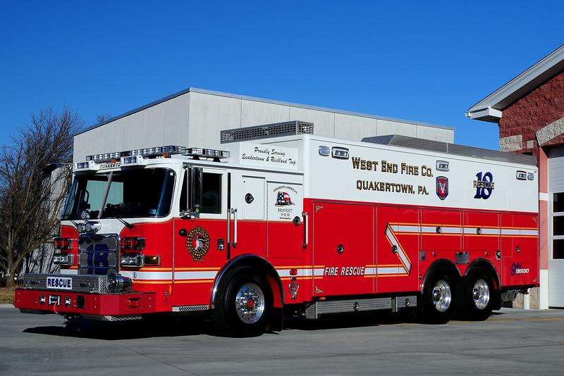 West  End  Fire Co  Quakertown   Rescue  18  2012  Pierce  Arrow  XT