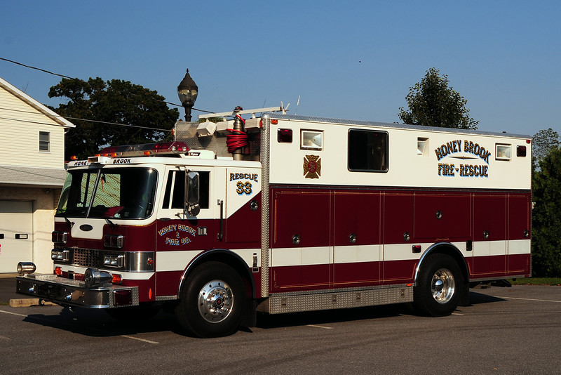 Honey Brook  Fire Co   Rescue  33  1989  Pierce Lance   Ex- Yardley- Makefield, Pa
