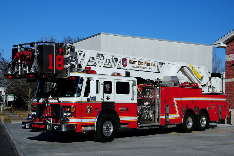 West WEnd  Fire  Co  Quakertown,  Tower  18   2000 American La France  LTI  1500/ 300 100 Ft