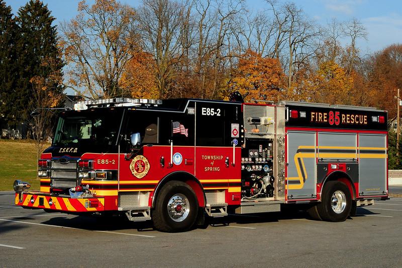 Spring  Twp Fire Dept  Engine  85-2 2011  Pierce  Velocity  2000/ 750