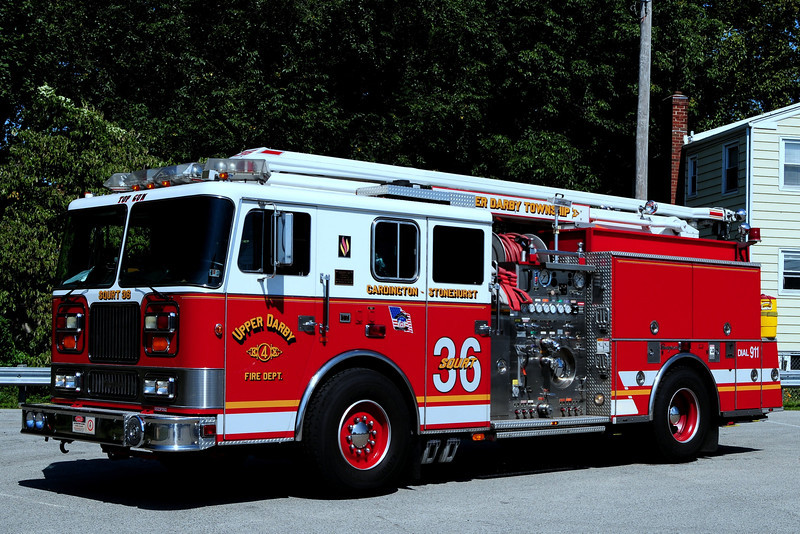 Upper Darby Fire Dept  Squirt 36  1998 Seagrave  1500/ 500/ 54 Ft boom