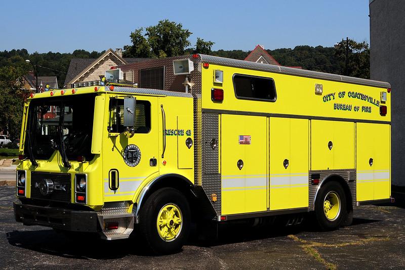 Coatsville Fire dept   Rescue  43   1991  Mack MR/ Saulsbury