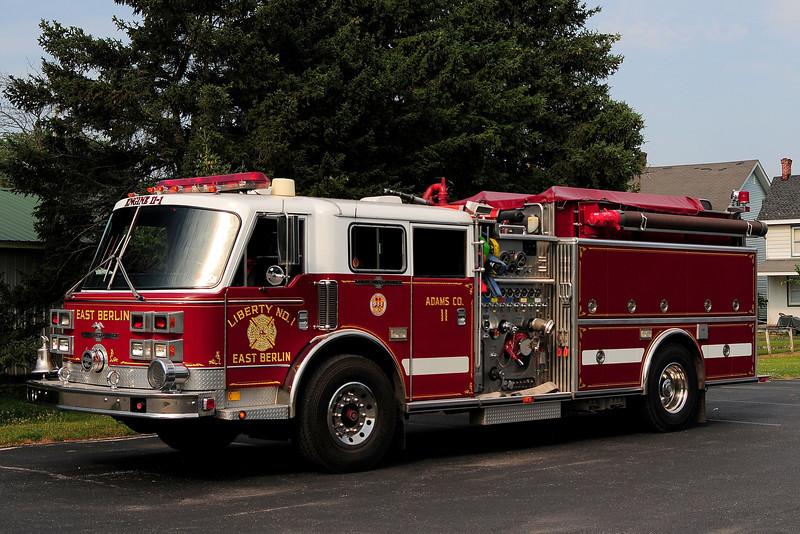Liberty Fire Co #1 of  East  Berlin , Pa    Engine  11-1   1991  American  La  france  1500/ 1000