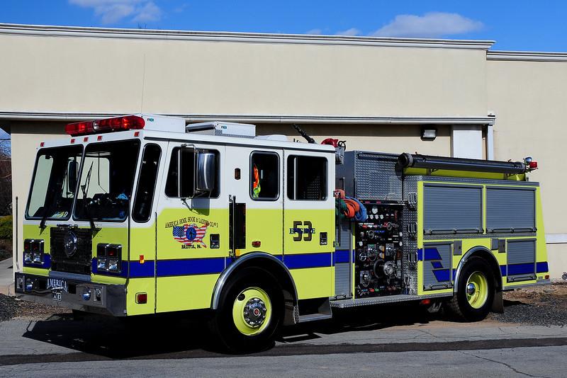 American Hook &  Ladder   Engine  53  1995  KME  1250/ 750/  30  Class A  Foam
