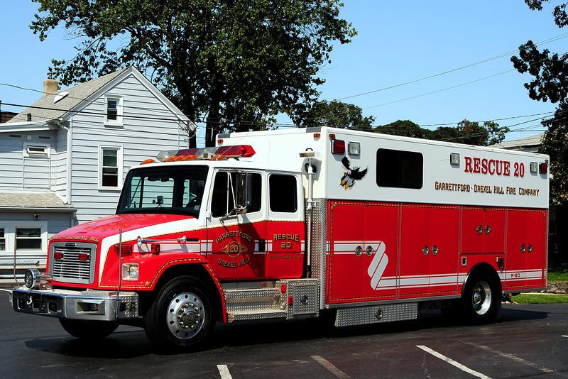 Upper Darby Fire dept   Rescue 20  1997 Freightliner/ PL Custom