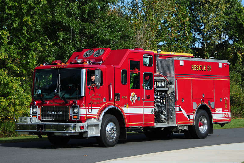 Hose Hook & Lader  Co  Engine 58-50  1250/ 500 1992 Mack MC/ Pierce   refurb in 2002  Ex Townsend Delaware