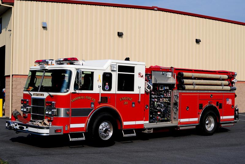Goodwill Fire Co   Engine  30 2002 pierce Dash  2000/ 1500/ 40 Foam