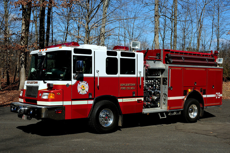 Doyestown  Fire Co # 1   Engine 79  2000 Pierce Quantum  2000/ 1000  15  Class A  30  Class B  Foam