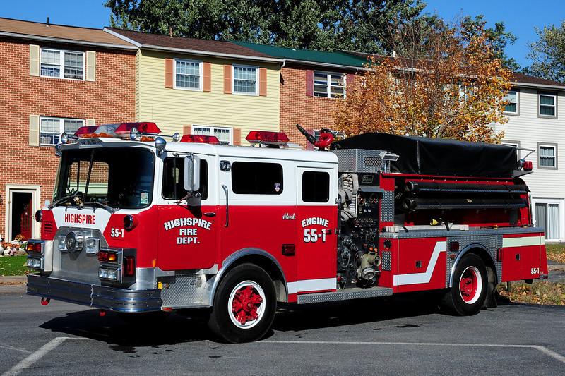 Highspire Fire Co  Engine  55-1   1978 Mack CF  New Lexington  1000 /1000