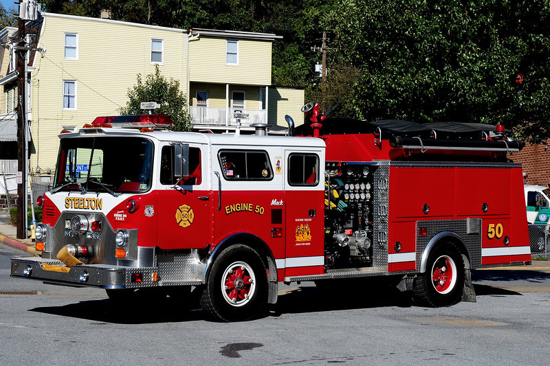 Steelton  Fire Co  Engine  50  1980 Mack CF  ITE  1000 / 5oo  Ex- FDNY  Engine  241