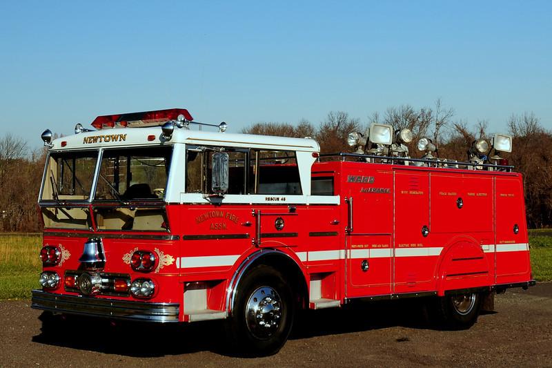 Newtown  Fire Assoc  Rescue  45  1965  Ward La France  Rescue