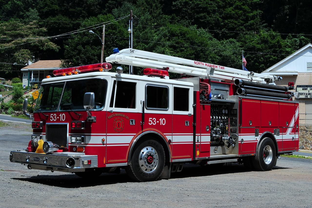 Mount Carbon Fire Co Engine 53-10  1993 Pierce Arrow 2000/ 750/ 80/ 54'    Ex- Plainsboro, NJ