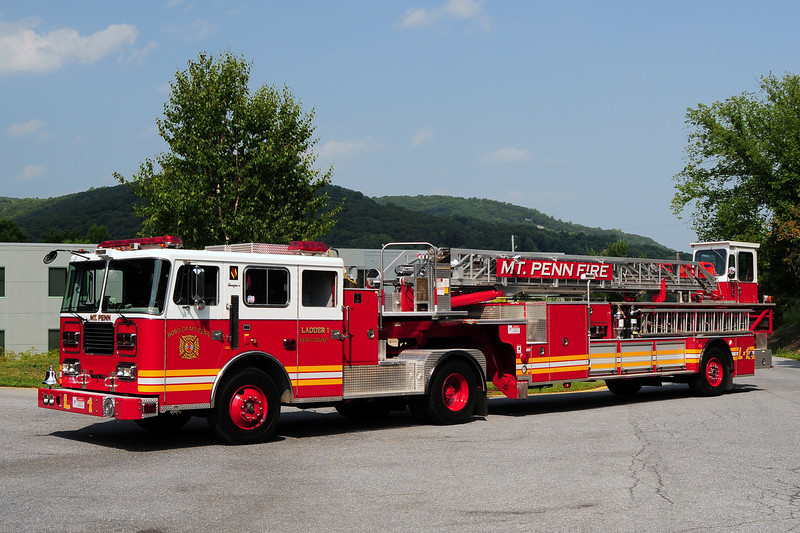 Mount Penn Ladder 1  1992 Seagrave 100Ft Tiller  Ex-Cincinatti,  Ohio Refurbed in 2009
