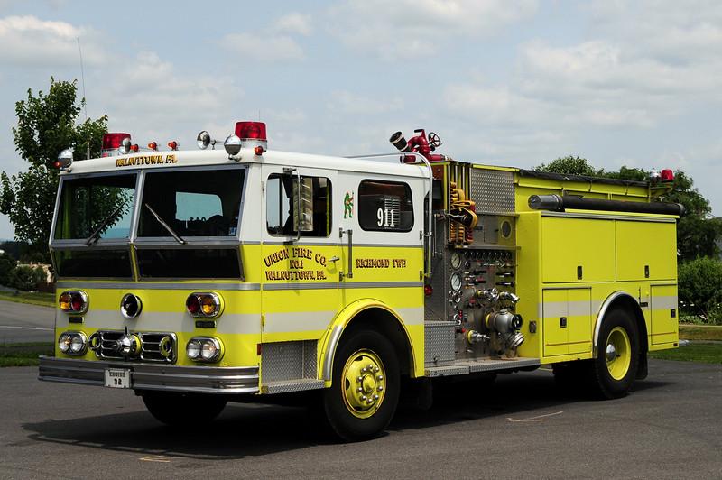 Union Fire Co of Walnuttown , Pa Engine 32  1974 Ward La France  1000/ 1000  Refurbed   in  1991