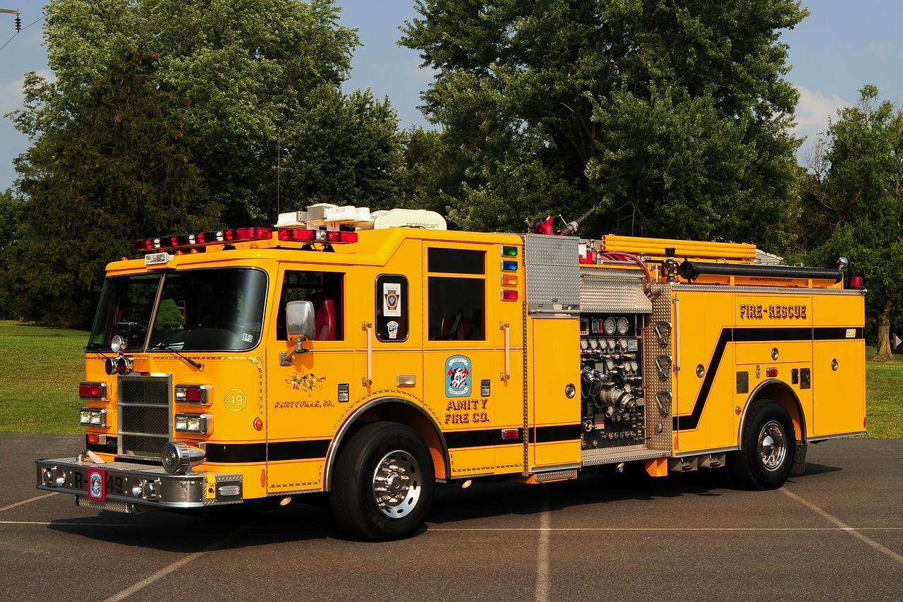 Amity  Fire Co Rescue 49   2002 Pierce Dash 1500/ 500/ 40     Ex-Myrtle Beach, SC