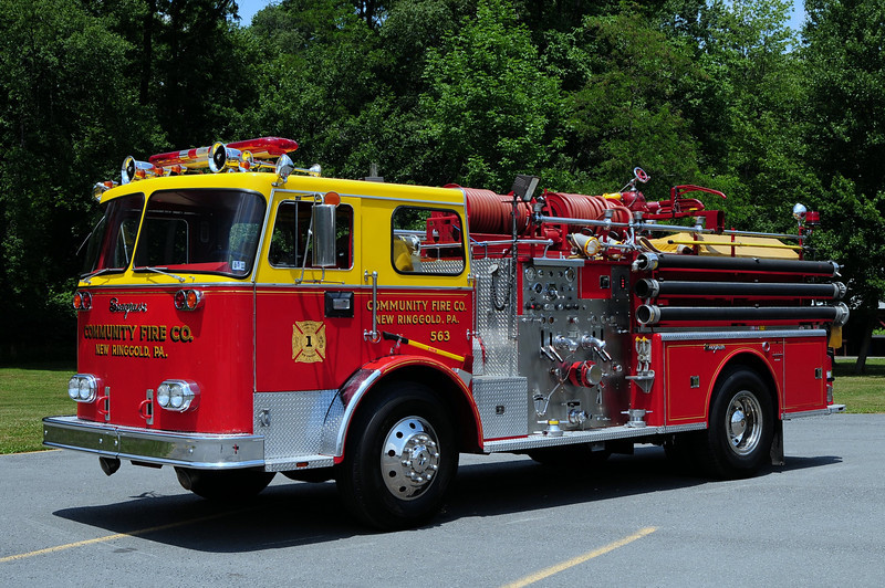 Community Fire Co New Ringgold, Pa  Engine 563  1973 Seagrave PB 750/ 300