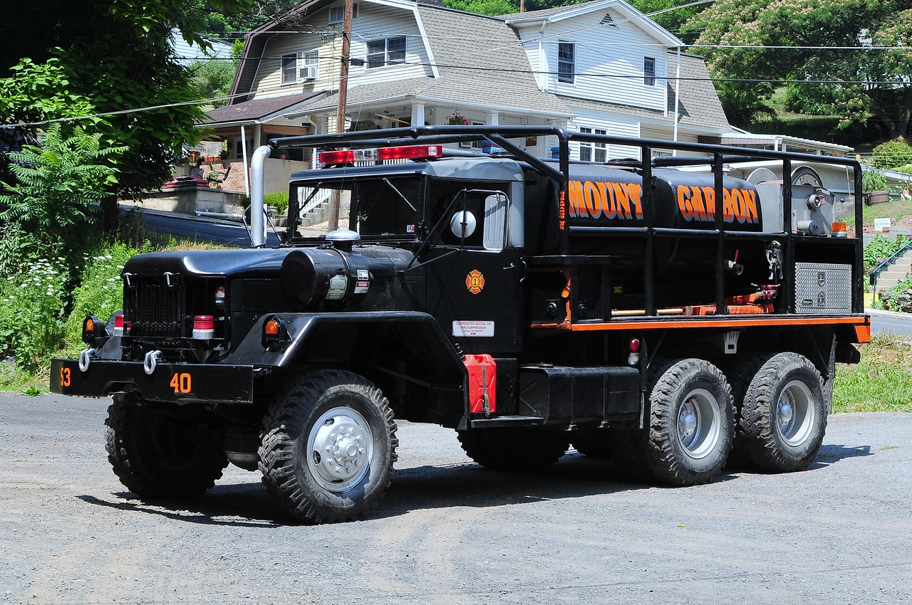 Mount Carbon Fire Co  Brush 5340  1973 American General  5 Ton  6x6  350 /1250