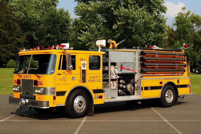 Amity  Fire Co Engine 49-1   1987 Pierce Lance 1750/ 1000