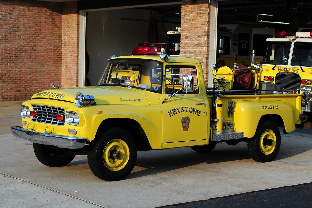 Keystone Steam Fire Engine Co  Brush Utility  16   1961 International  150/ 150