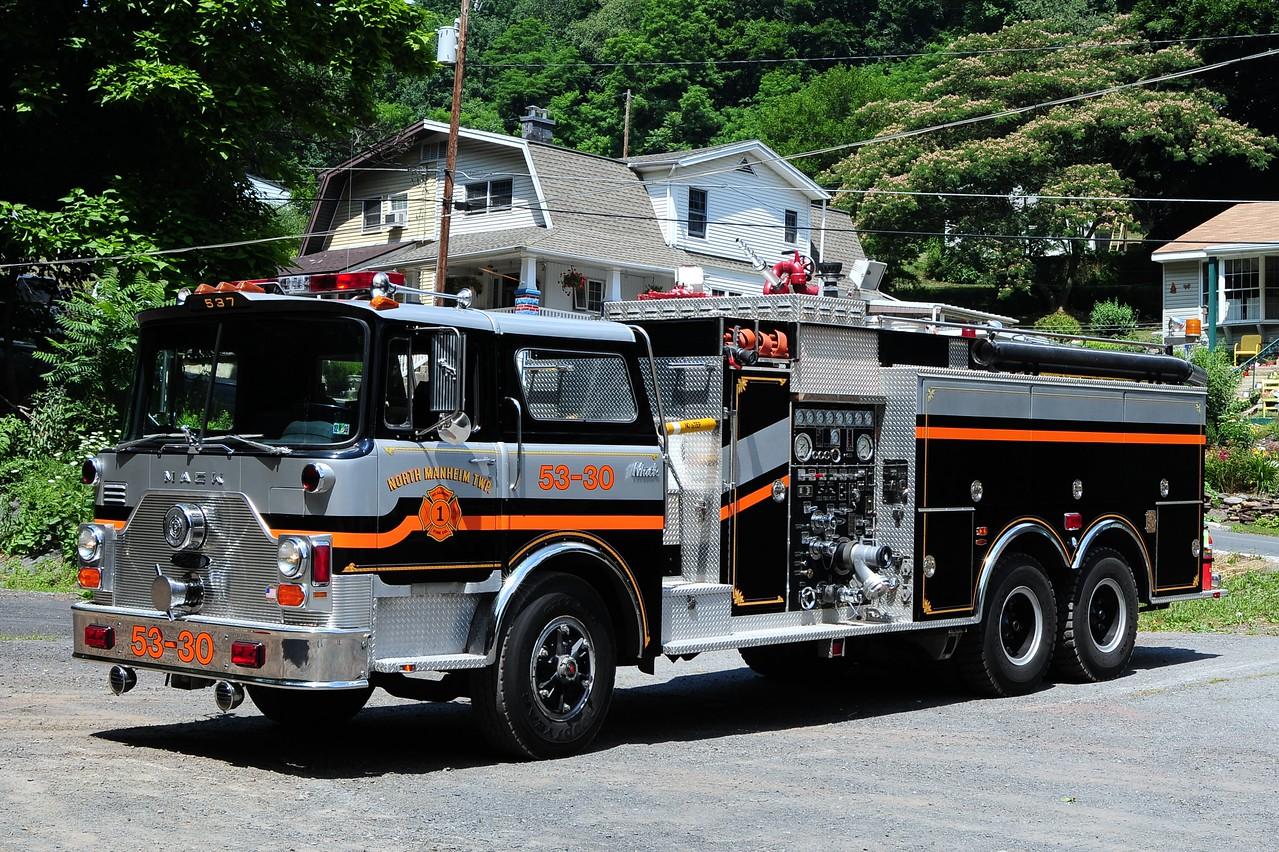 Mount Carbon  Fire Co  Tanker 5330 1983 Mack CF Pierce  1500 /2000  refurb in 2007  by  Lady & Taylor