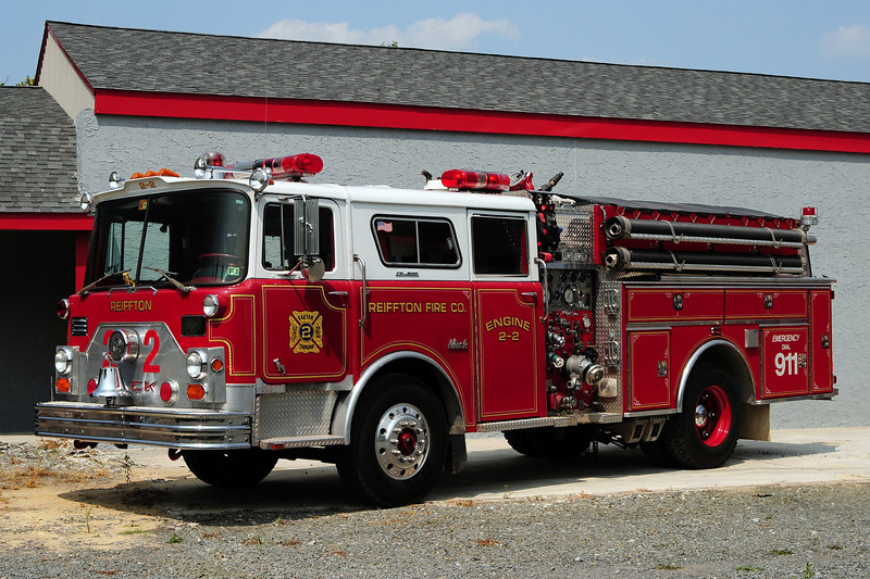 Reiffton  Fire Co   Engine  2-2  1972 Mack CF  New Lexington 1250/ 500 Ex-Hampton, NH