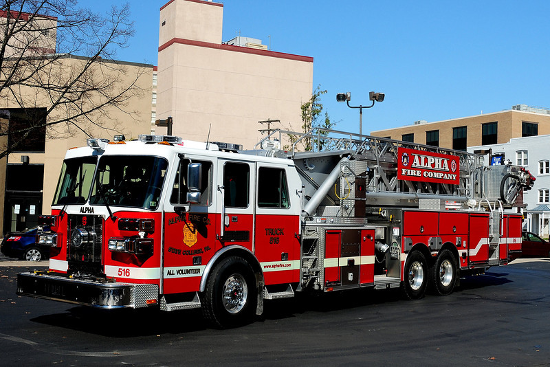 Alpha  Fire Co  Truck  516  2007 Sutphen  Tower Ladder  100 ft