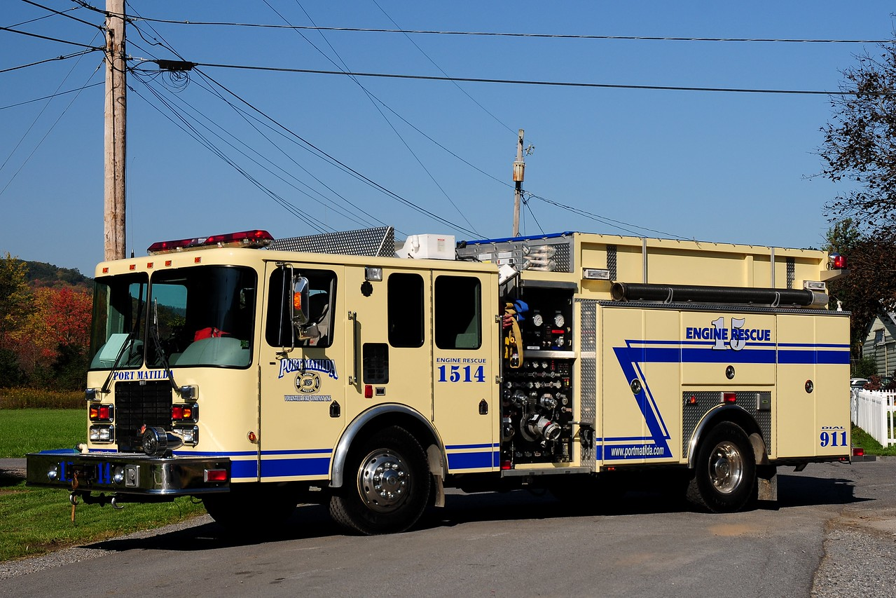Port Matilda Fire Co     Rescue- Engine  1514   HME / Ferrera   1500/ 500/ 30