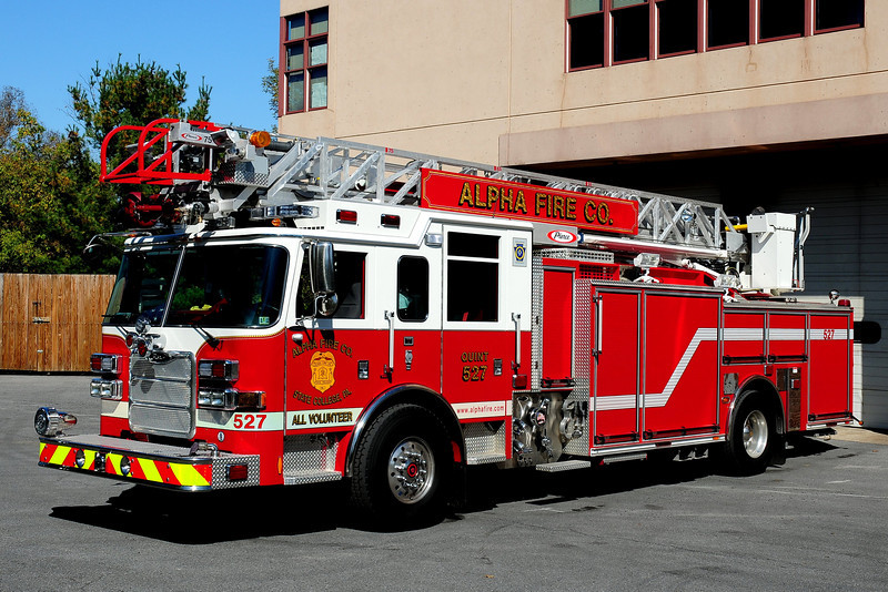 Alpha Fire Co Quint 527  2010 Pierce Arrow XT  1500/ 500 75 ft