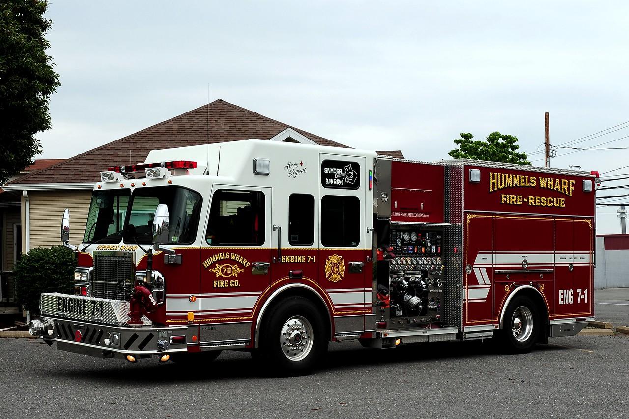 Hummels Warf Fire Co  Engine  7-1  2007 Spartan /Crimson  2000/ 1000/ 50 Class A / 40 Class B  foam