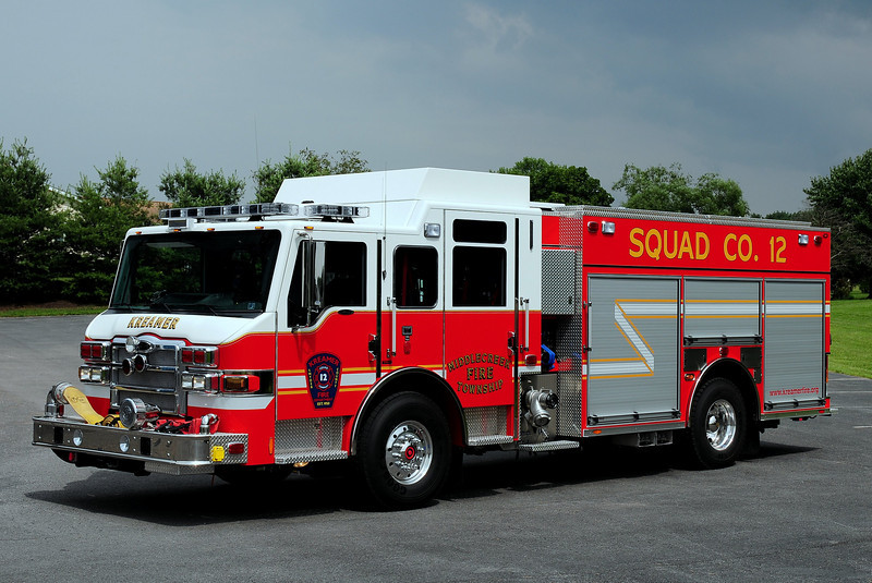Kreamer Fire Co  Squad 12  2010 Pierce Velocity  PUC  1500/ 750/ 40 class B foam